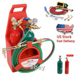 Professional Tote Oxygen Acetylene Oxy Welding Cutting Torch Kit With Tank