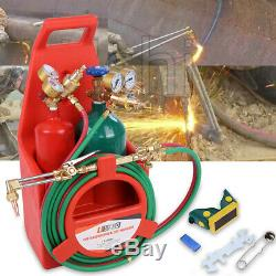 Professional Tote Oxygen Acetylene Oxy Welding Cutting Torch Kit With Tank LOT