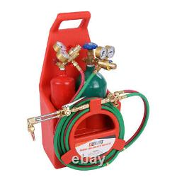 Professional Tote Oxygen Acetylene Oxy Welding Cutting Torch Kit With Tank RED