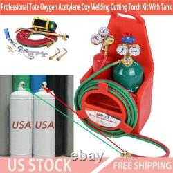 Professional Tote Oxygen Acetylene Oxy Welding Cutting Torch Kit With Tank US