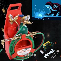 Professional Tote Oxygen Acetylene Oxy Welding Cutting Torch Kit with tank Free