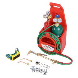 Professional Tote Oxygen Acetylene Oxy Welding Cutting Torch Kit with tank USA