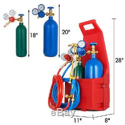 Professional Tote Oxygen Propane Oxy Welding Cutting Torch Kit withTank Protable