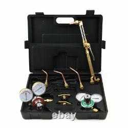 Professional Welding Tips Kit Oxy Acetylene Oxygen Torch Cutting Set With Case