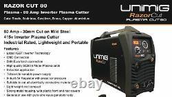 Razor Cut 80 Plasma Cutter Inverter Sc80 Torch Razorcut Unimig Welding Kupjrrw80