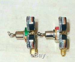 SMITH REGULATOR SET 30-100 Oxygen 30-15 Acetylene Cutting Welding Torch Miller