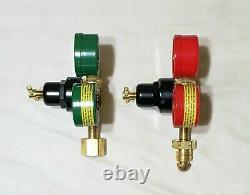 SMITH REGULATOR SET H1910C-540 Oxygen H1945C-510 Acetylene Cutting Welding Torch