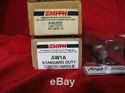 SMITH welding tips, torch body, regulators, cutting attachment