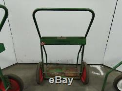 Saf-T-Cart 2 Wheel Welding Dual Cylinder Cutting Torch Dolly Truck Cart Lot of 4