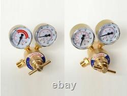Solid Brass OXYGEN & ACETYLENE Regulators 4 Welding Fit Victor Gas Torch Cut