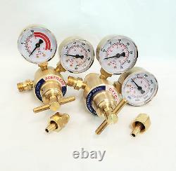 Solid Brass Welding Fit Victor Gas Torch Cutting Oxygen / Acetylene Regulators