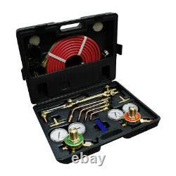 UL Oxygen Acetylene Victor Type Welding Cutting Kit Torch Regulator Gauge & Hose