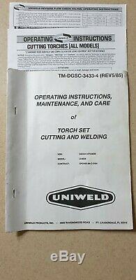 UNIWELD U-9838 BRAZE WELDING & CUTTING TORCH Set (less than 1hr of usage)