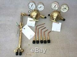 Victor Cutting Torch Welding Set With Handle Regulators & 5 Tips 00, 0, 1, 2, 4