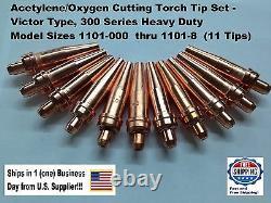 Victor Type HD (300 series) Super Torch Tip Set (Welding, Cutting, Gouging)-25pc