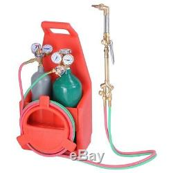 Welding Brazing Cutting Outfit Torch Tool Kit withRefillable Acetylene Oxygen Tank