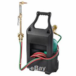Welding Brazing Cutting Outfit Torch Tool with Refillable Acetylene Oxygen Tanks