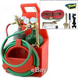 Welding Tools Portable Victor Cutting Torch Kit Oxygen Acetylene Tote Carrier
