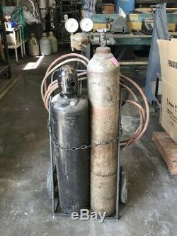 Welding/cutting Oxygen & Acetylene Tanks-cart-torch-gauges Hose
