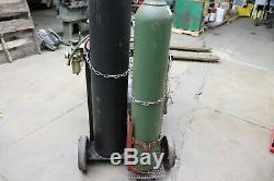 Welding/cutting Set Up 125 Cu Oxygen & Acetylene Tanks-cart-torch-gauges Hose