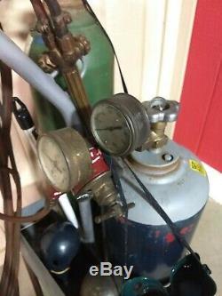 Welding/cutting Set Up Oxygen/ Acetylene Tanks-cart-torch-gauges Hose